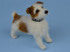 Needle felted Little Bom the Jack Russell terrier