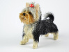 Needle felted OOAK figurine of Bonita the Yorkie
