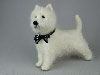 """Freddie"", West Highland White Terrier needle felted figurine"