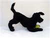 black Labrador, needle felted