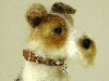 Randolph the Wirehaired Fox Terrier needle felted by Olga Timofeevski