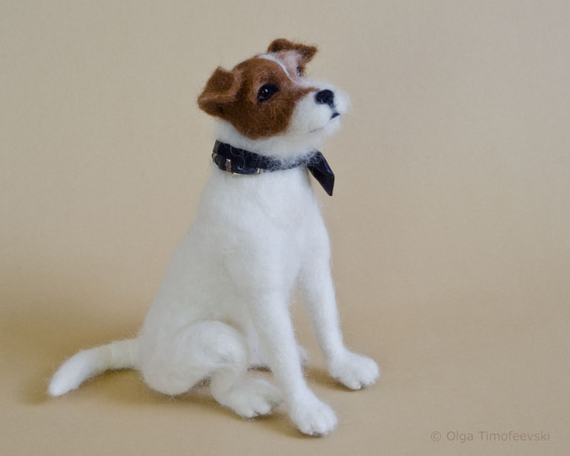 Uggie The Jack Russell Terrier Uggie Needle Felted By