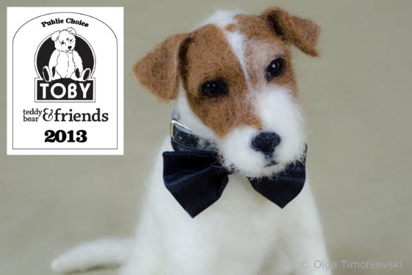 Uggie the needle felted Jack Russell - TOBY Public's choice 2013